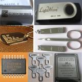 fiber laser machine marking sample on metal material