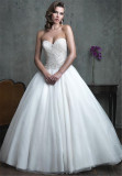 2016 Latest Designs Stunning Beaded Sexy Sweetheart Low Back Wedding Dress (Dream-100023)