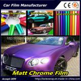 PVC Material Colors Matt Chrome Car Wrap Vinyl Film, 1.52m Width