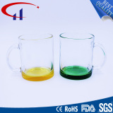 340ml Colrful Personalized Glass Cup with Hand (CHM8136)