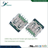 USB3.0 Big current 5A A/Female 9Pin right angle type