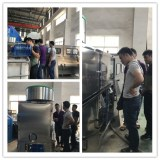 client inspect the filling machine