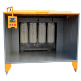 FF-2352 Filter powder coating booth with wheels