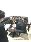 Welcome Russia Customer Delegation Comes to Visit ZGJ Cream Machine