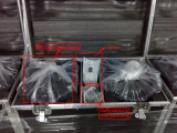 Pacakage of Beam Moving Head Light by Flight case