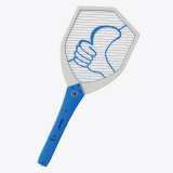 2AA Battery-Operated Mosquito Swatter with LED Light