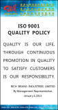 ISO9001 QUALITY POLICY