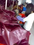 tent floor sewing