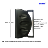 50W 11.7 Inch Black Outdoor Indoor High Quality Fashion Loudspeaker