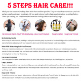 5 steps hair care