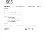 SGS No-silicon Test Report