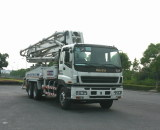 Our Truck-mounted concrete pump (37M) for Myanmar market