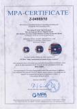 MPA Germany certificates