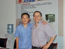 Mr.Chen Gong with LEBANON customer