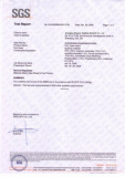 SGS Test Report For PVC Foam Sheet