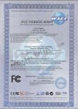 FCC Certifacate