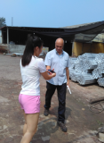 Brazil customer come to visit the aluminum bar factory