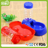 Plastic Pet Bowl with Bottle to Drink