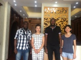 Africa Customers visiting GOSSPO wood doors factory
