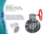 PVC Plastic Butterfly Valve Worm Gear DIN ANSI JIS Cns Standard