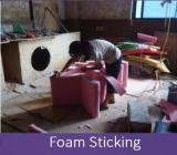 foam sticking
