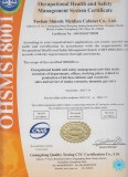 Occupational Health and Safety Management System Certificate OHSMS18001