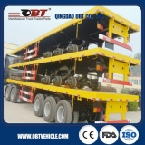 3 Axles 60t flatbed container Semi-Trailer for Kenya
