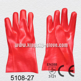 Smooth Finish Red PVC Glove with CE Certificate