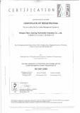 Certificate of Registration ISO9001: 2008