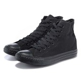Low Price Platform Sneaker Canvas Shoe with Black Rubber Sole