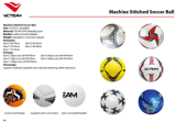 Machine stitched soccer ball