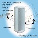 10.6 Inch White Small Fashion Outdoor Column Speaker