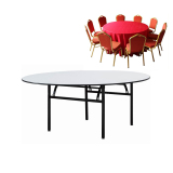 PVC Fold Banquet Dining chair table