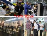 We are attending trade show and discussing business with our customers.