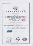 Quality System ISO9001 Certificate