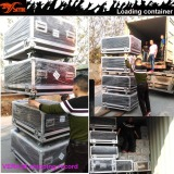 Loading container of VERA36 line array system, STX828S subwoofer, PK6000 amplifiers