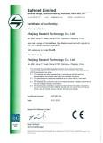 CE certificate - mass flow meter