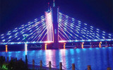 Colorful bridge with LED Strip light