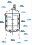 Scraper Mixing Tanks for viscosity Material