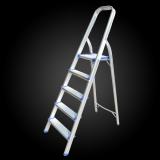 5 step squre tube folding lightweight aluminum ladder with safe hand rail