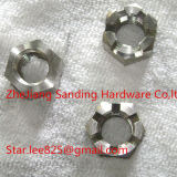 stainless steel hex slotted nut