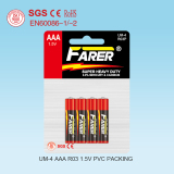 1.5V Farer Super Heavy Duty Dry Battery (R03 AAA, Um-4)
