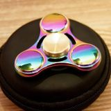 Rainbow Color Alloy Metal hand toys spinner