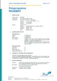 food grade PP material MSDS test