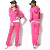 high quality women velvet track suit