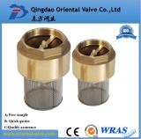 hot sell brass check valve foot valve with SS stainer
