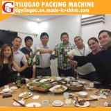 customer visit in factory and small party with YILUGAO staff