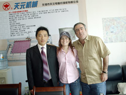 Mr.Chen Gong with DOMINICA customer