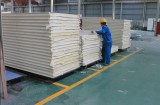 PU wallboard production