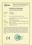 CE-LVD certification of FB series amplifier